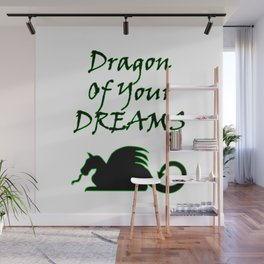Dragon Of Your Dreams (Black) Wall Mural