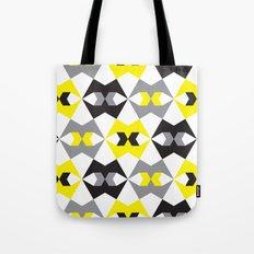 Yellow, gray & black geometric pattern Tote Bag