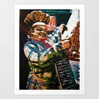 chef Art Prints featuring Chef by Five Ate Five Studios