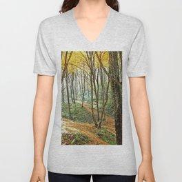autumn forest 2 Unisex V-Neck