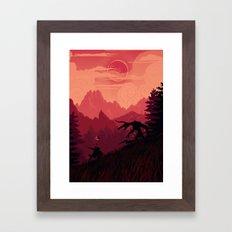 Under A Blood Moon Framed Art Print