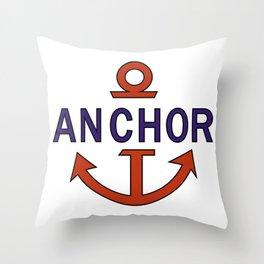 Luffy Anchor Throw Pillow