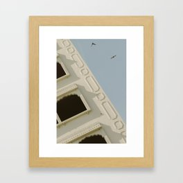 India + the birds Framed Art Print