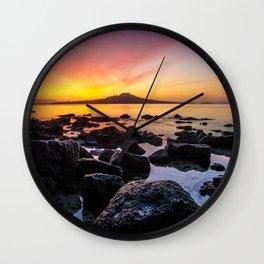 Rangitoto Island New Zealeand Wall Clock