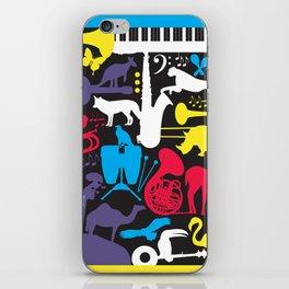 Jazz Zoo iPhone Skin