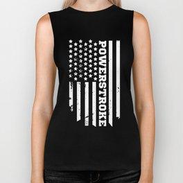 power stroker american flag t-shirts Biker Tank