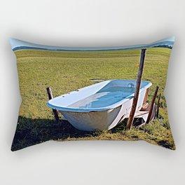 Outdoor pool | conceptual photography Rectangular Pillow