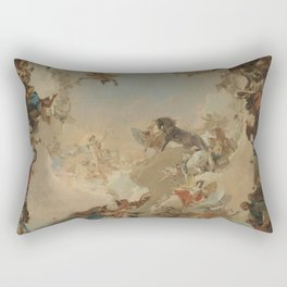 Allegory of the Planets and the Continents by Giovanni Battista Tiepolo Rectangular Pillow