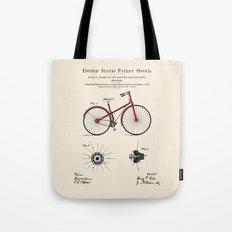 Bicycle Patent Tote Bag