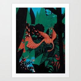 Russian Folk Tales - The Firebird Art Print