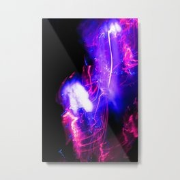 Light Painting Experiment 64 Metal Print