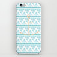 anchors iPhone & iPod Skins featuring anchors by taylor st. claire