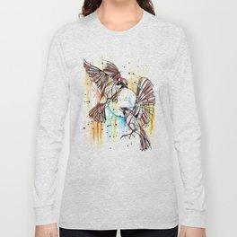 Geometric Sparrows Long Sleeve T-shirt