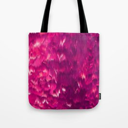 Abstract modern violet neon pink ikat pattern Tote Bag