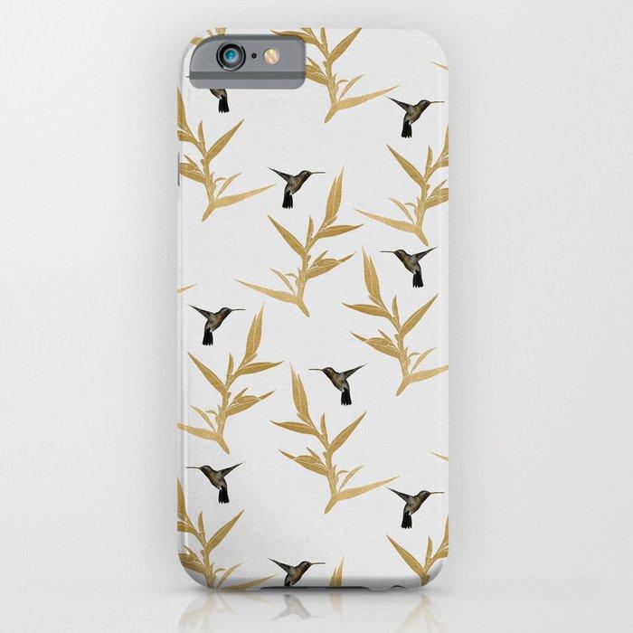 hummingbird & flower ii iphone case