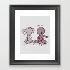 Sadness Sutures Framed Art Print