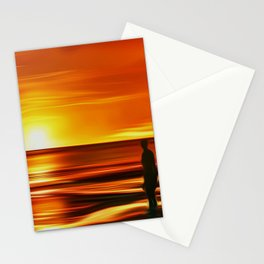 Gormley at Sunset Stationery Cards
