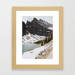 Lake Agnes Framed Art Print