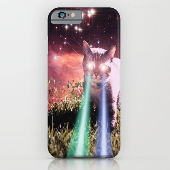 Mega Space Cat Rising iPhone & iPod Case
