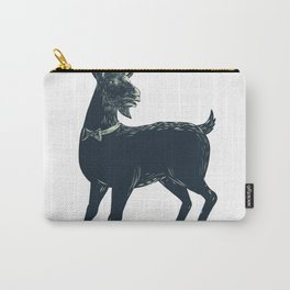 The Goat Wearing Bow Tie Scratchboard Carry-All Pouch