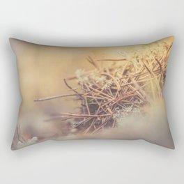 White reindeer moss photo Rectangular Pillow