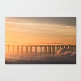 Sunrise Surf Canvas Print