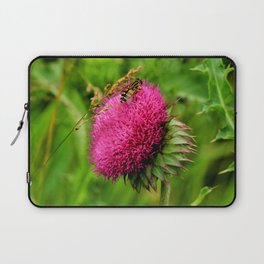 The thistle and a fly Laptop Sleeve