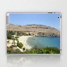 Rhodes, Greece Beach  Laptop & iPad Skin