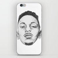 kendrick lamar iPhone & iPod Skins featuring Kendrick Lamar by Omar Guzman
