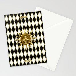 Golden Sun - Black & Gold Diamonds Stationery Cards