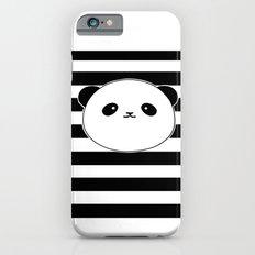 Cute, stripy Panda Face iPhone 6s Slim Case
