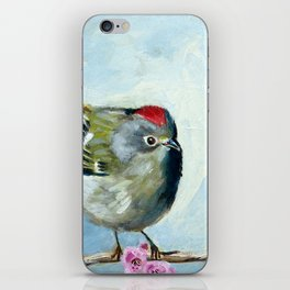 Ruby Crowned Kinglet iPhone Skin