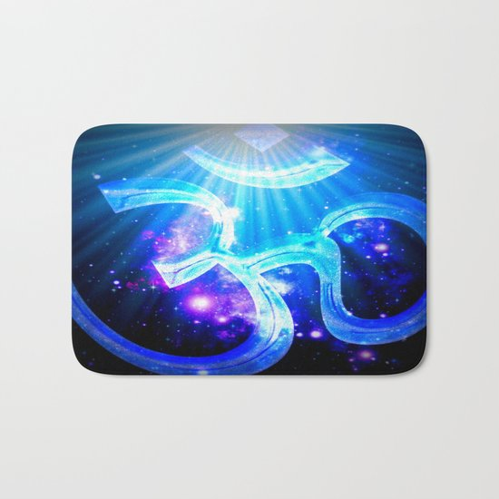 Om : Blue Purple Galaxy Bath Mat