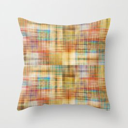 Multicolored patchwork mosaic pattern Throw Pillow