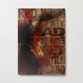 Addiction is the new Religion #1 Drink your brain Metal Print