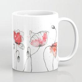 Watercolor popy-flowers Coffee Mug