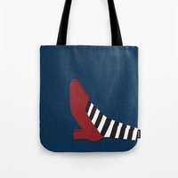oz Tote Bags featuring Oz shoe by Priscylla Cabral