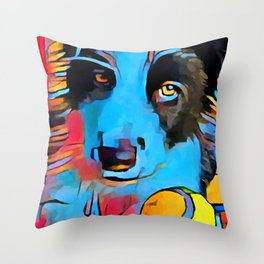 Border Collie Throw Pillow