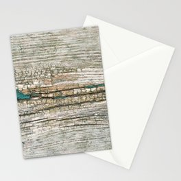 Rustic Wood Ages Gracefully - Beautiful Weathered Wooden Plank - knotty wood weathered turquoise pa Stationery Cards