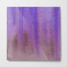 Dripping Gradient in Blue & Purple Metal Print