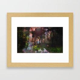 forêt enchantée Framed Art Print