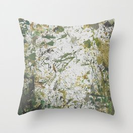 Abstract Sprout Throw Pillow