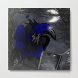 A Crow's Story Gothic Art Metal Print