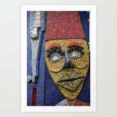 Luna Park Mosaic Art Print