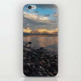 First Light on the Tetons and Jackson Lake iPhone Skin