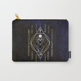 Egyptian scarab - blue version Carry-All Pouch