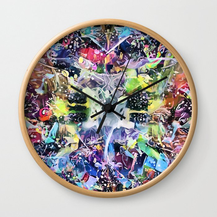 Crow's Paintbrush Wall Clock