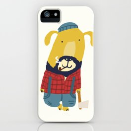 Rugged Roger - the lumberjack iPhone Case