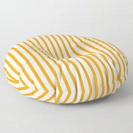 Orange & White Vertical Stripes Floor Pillow