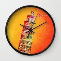 italy Wall Clocks featuring Italy  by mark ashkenazi